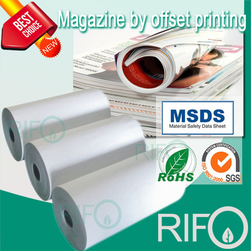 Rph-100 White BOPP Synthetic Paper for Offset Printable Magazine Materials