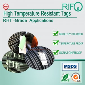 High color saturation,offset/screen/UV printable high temperature resistant tags
