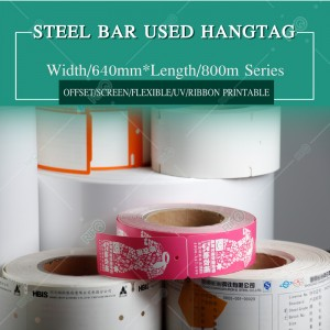 300 Celsius Heat resistant steel bar hang tags rebar hang tags for flexible print offset print